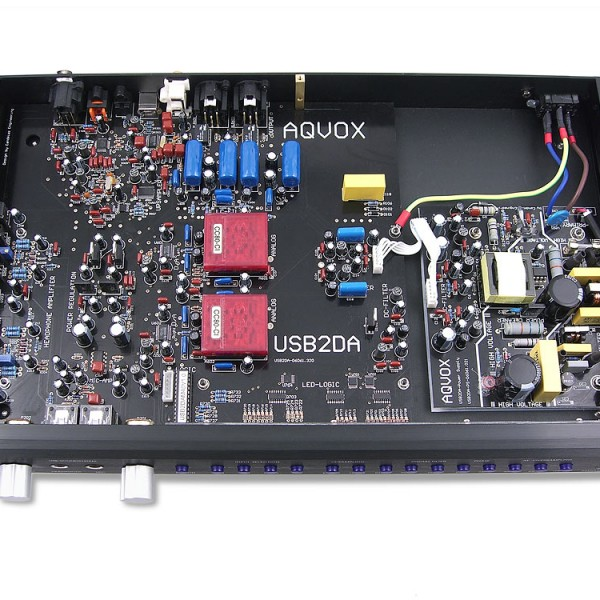 Aqvox-USB2DAMKII-componenti-ClasseA